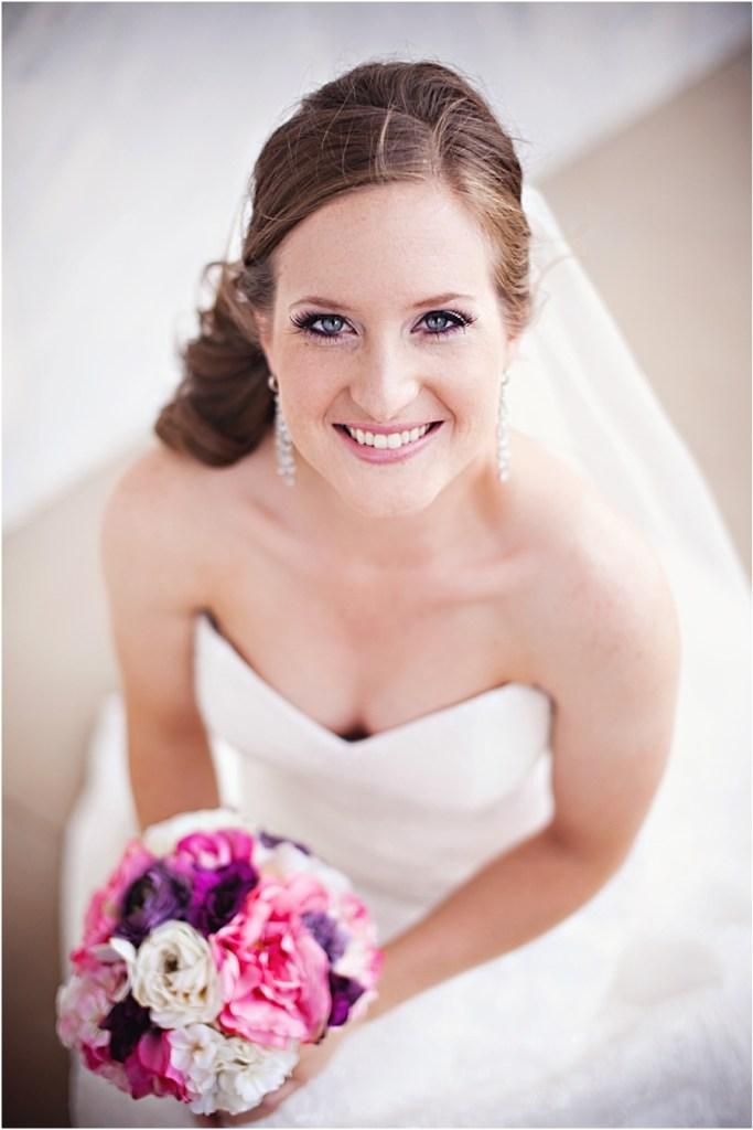 Pink and purple bridal bouquet in Lubbock, TX