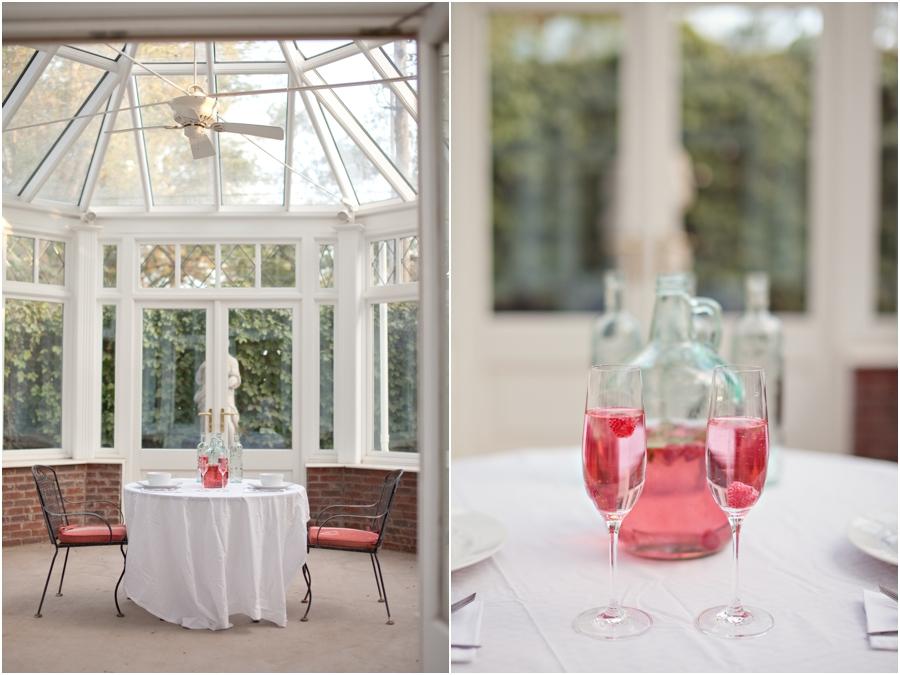 Bride and groom wedding table setup
