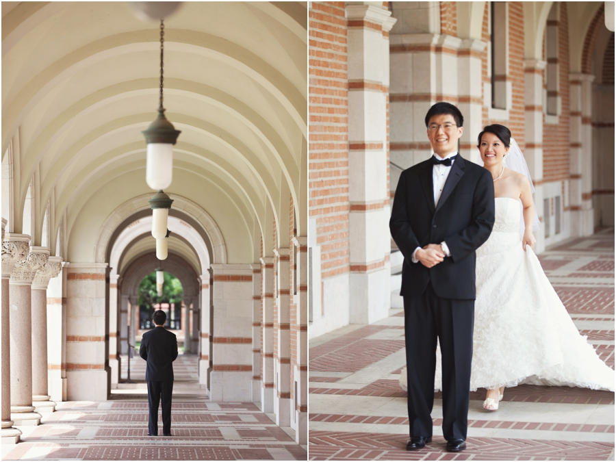 Rice University Wedding First Look