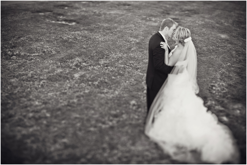 Black and White wedding picture white chapel