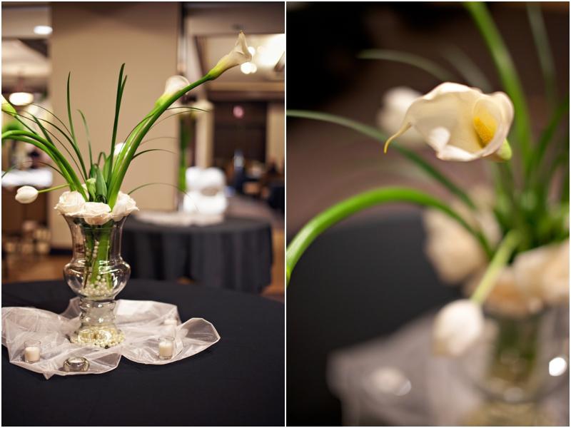 White tulip wedding details in Lubbock
