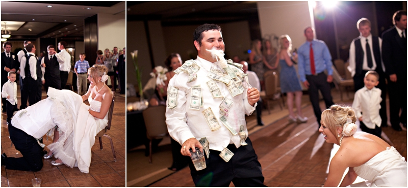 Groom with money on his shirt