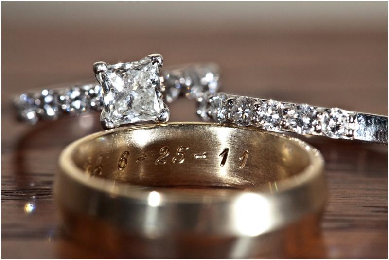 wedding date engraved on grooms ring