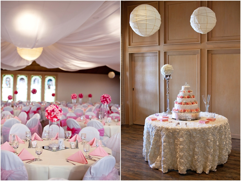 pink and white wedding in lubbock texas