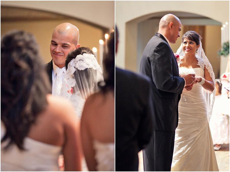 sweet glances during the wedding ceremony