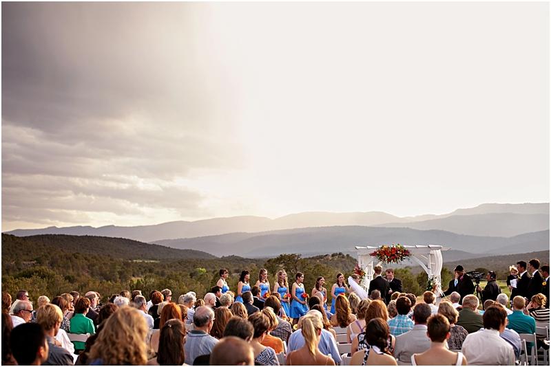 Mountain scenic wedding in Albuquerque