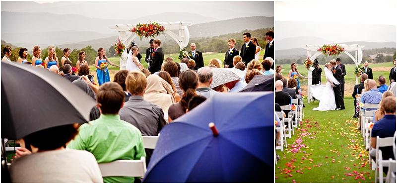 Rainy wedding pictures