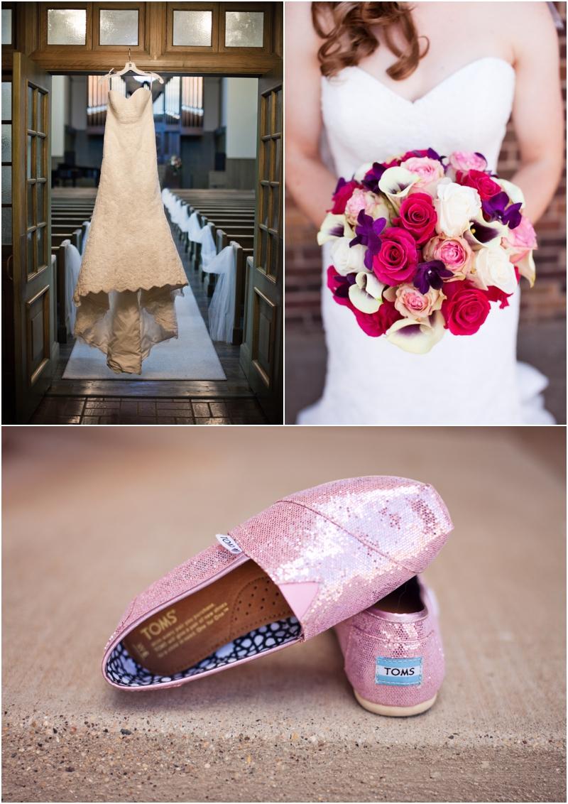 Pink and purple wedding details lubbock wedding