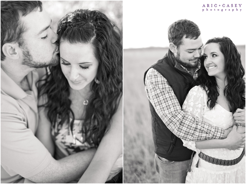 sweet black and white engagement pictures