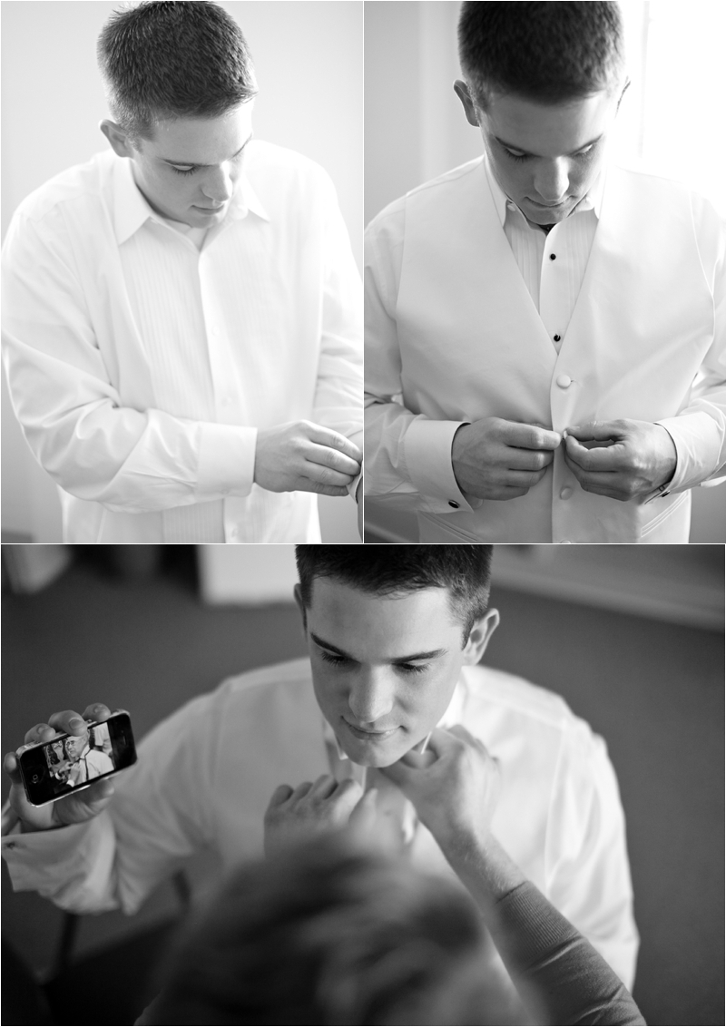 groom getting wedding