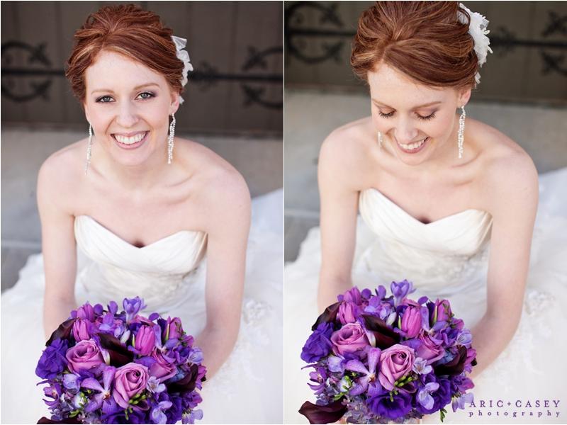 beautiful red head bride