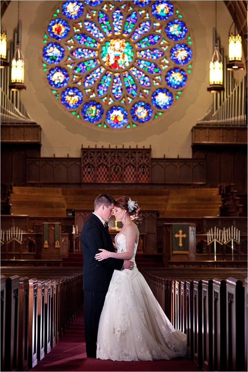 First United Methodist Church Lubbock Stained Glass Wedding shot