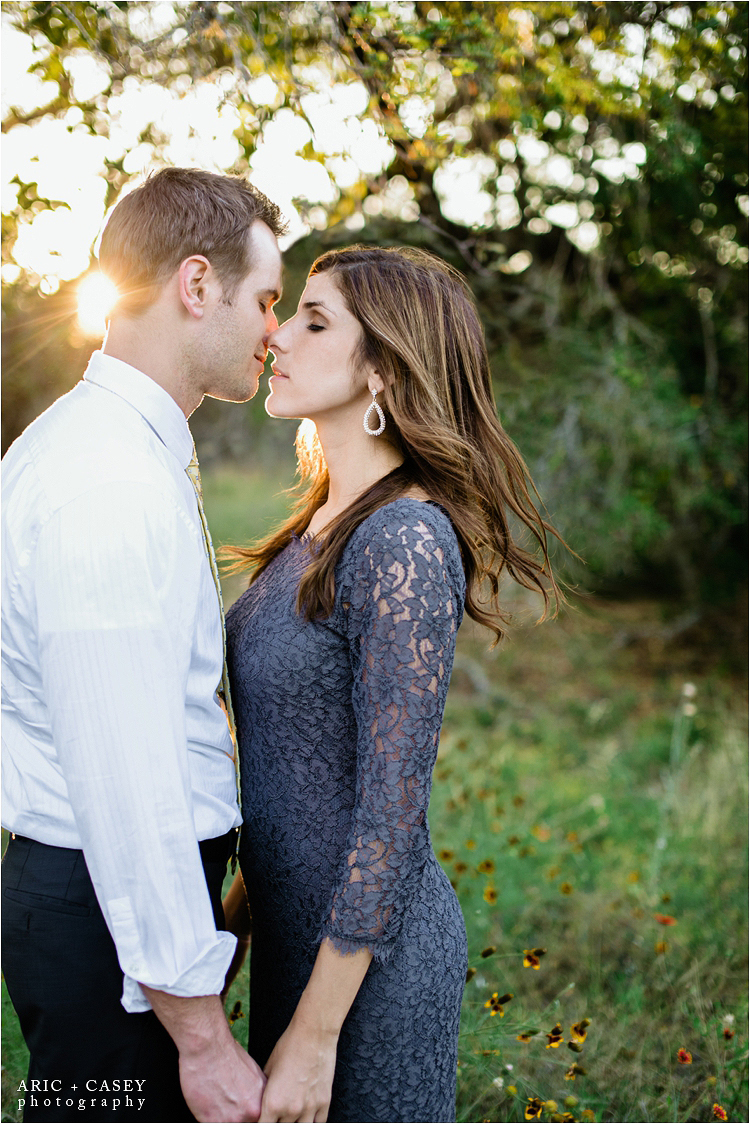 beautiful hill country engagement photos