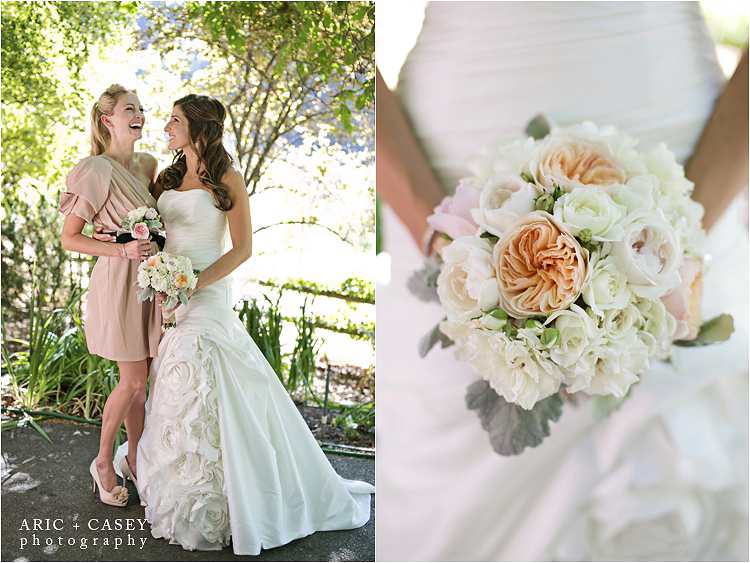 adorable maid of honor picture, gorgeous modern wedding bouquet