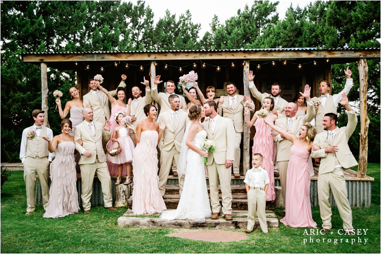 bridal party portraits at cotton creek barn Outdoor Wedding Venues Lubbock