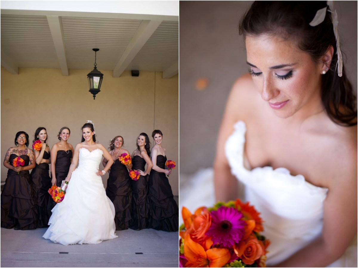 albuquerque bride and bridesmaids