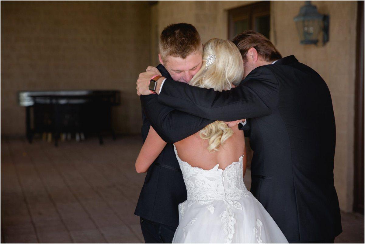 sibling hug