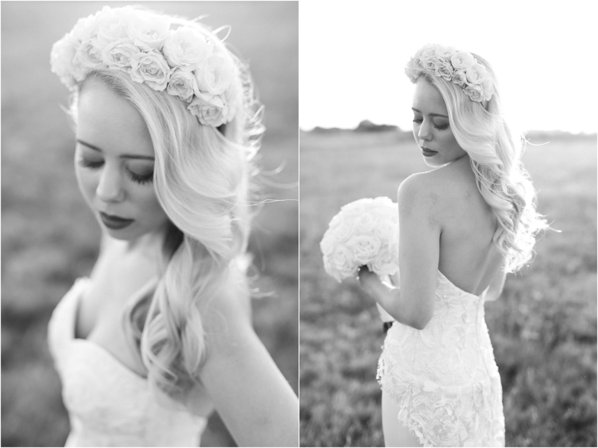 black and white bridal photo lubbock