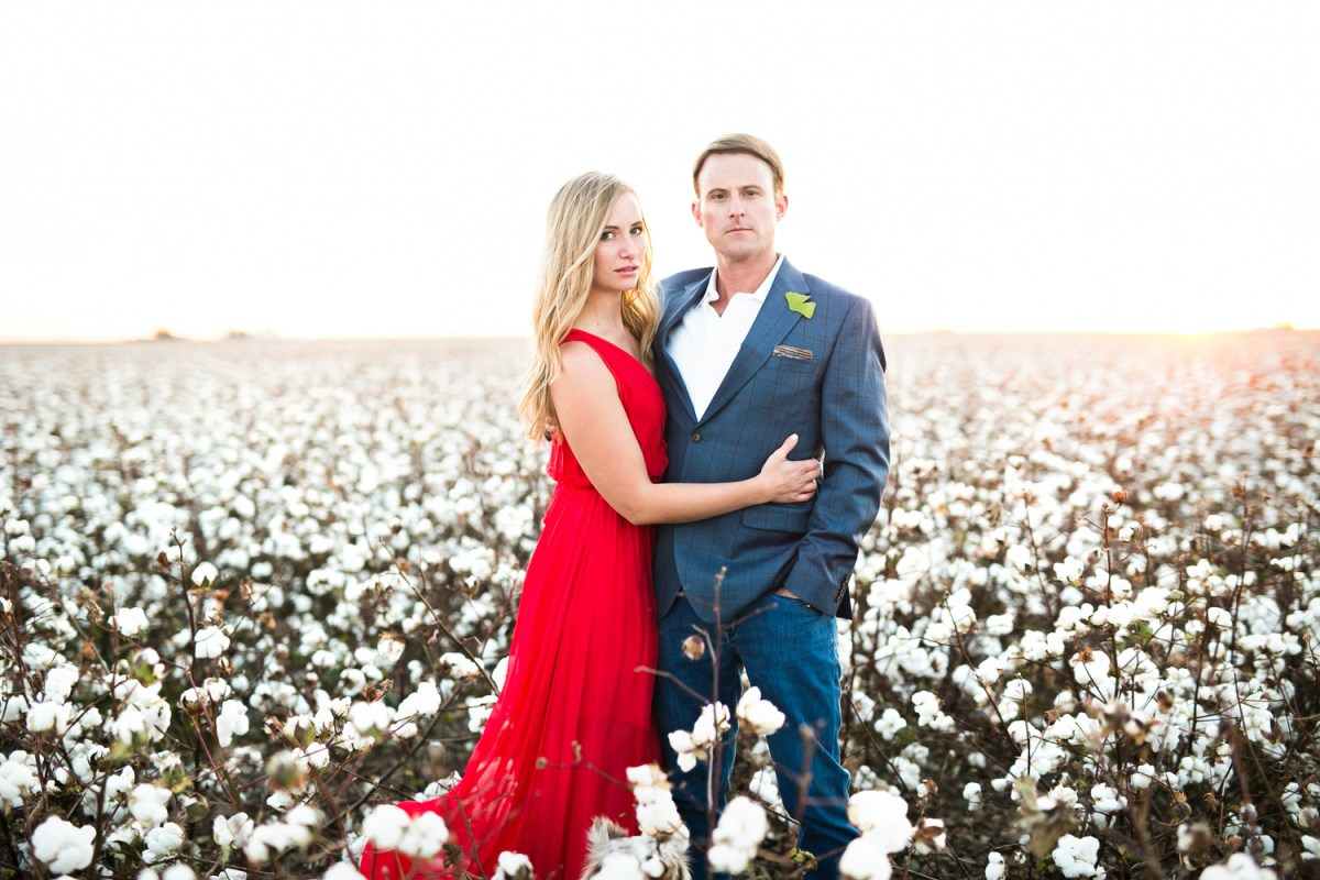couple in cotton field