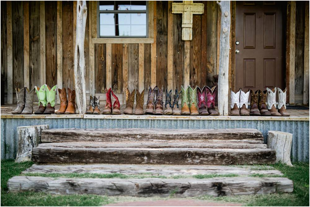 cowboy boots lined up