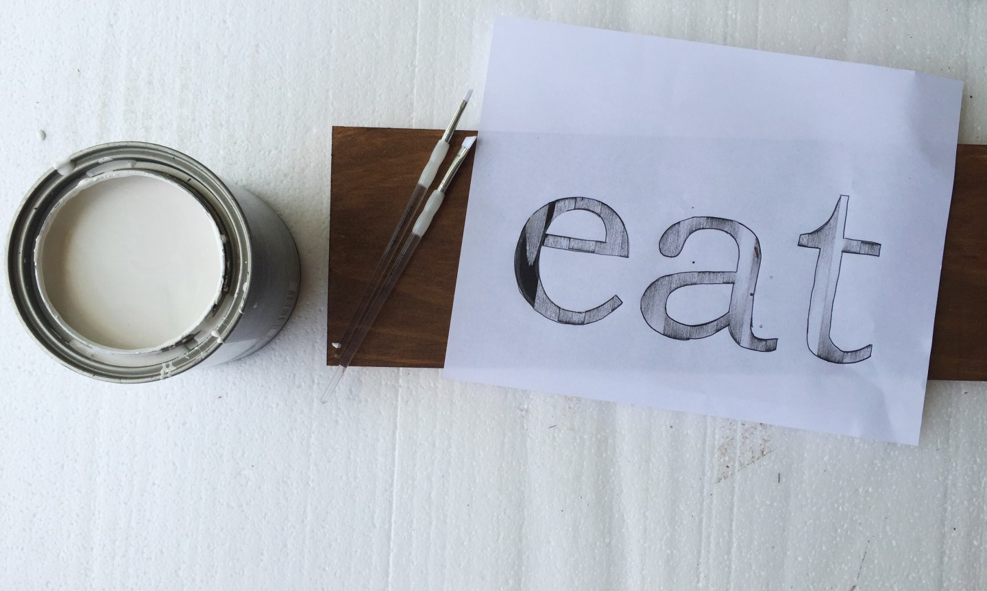 DIY Wooden Kitchen Sign