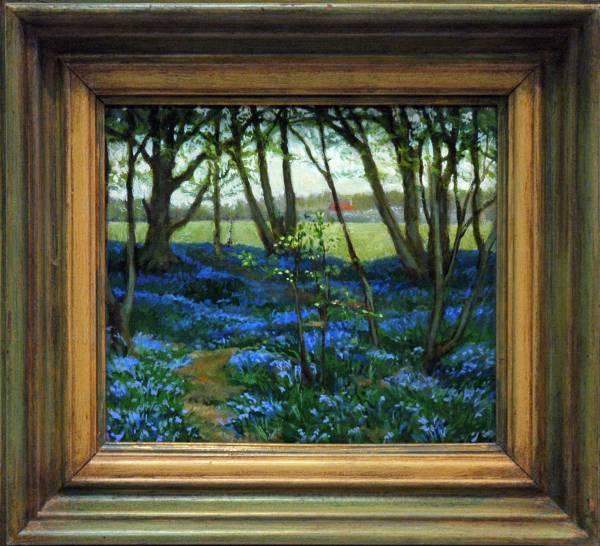 Painting of Texas Bluebells