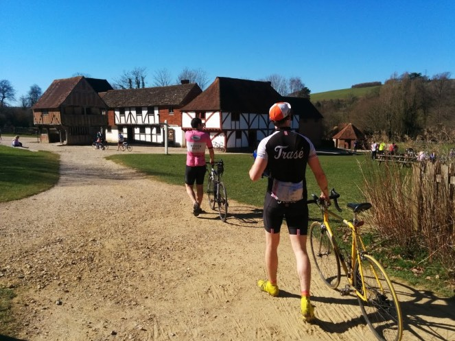 Coming back into the open air museum post-ride
