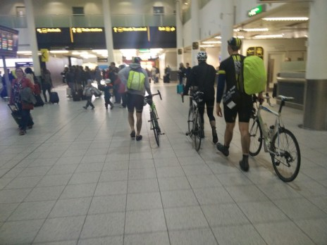 Getting the train down involves a disorientating walk through the Gatwick departures lounge
