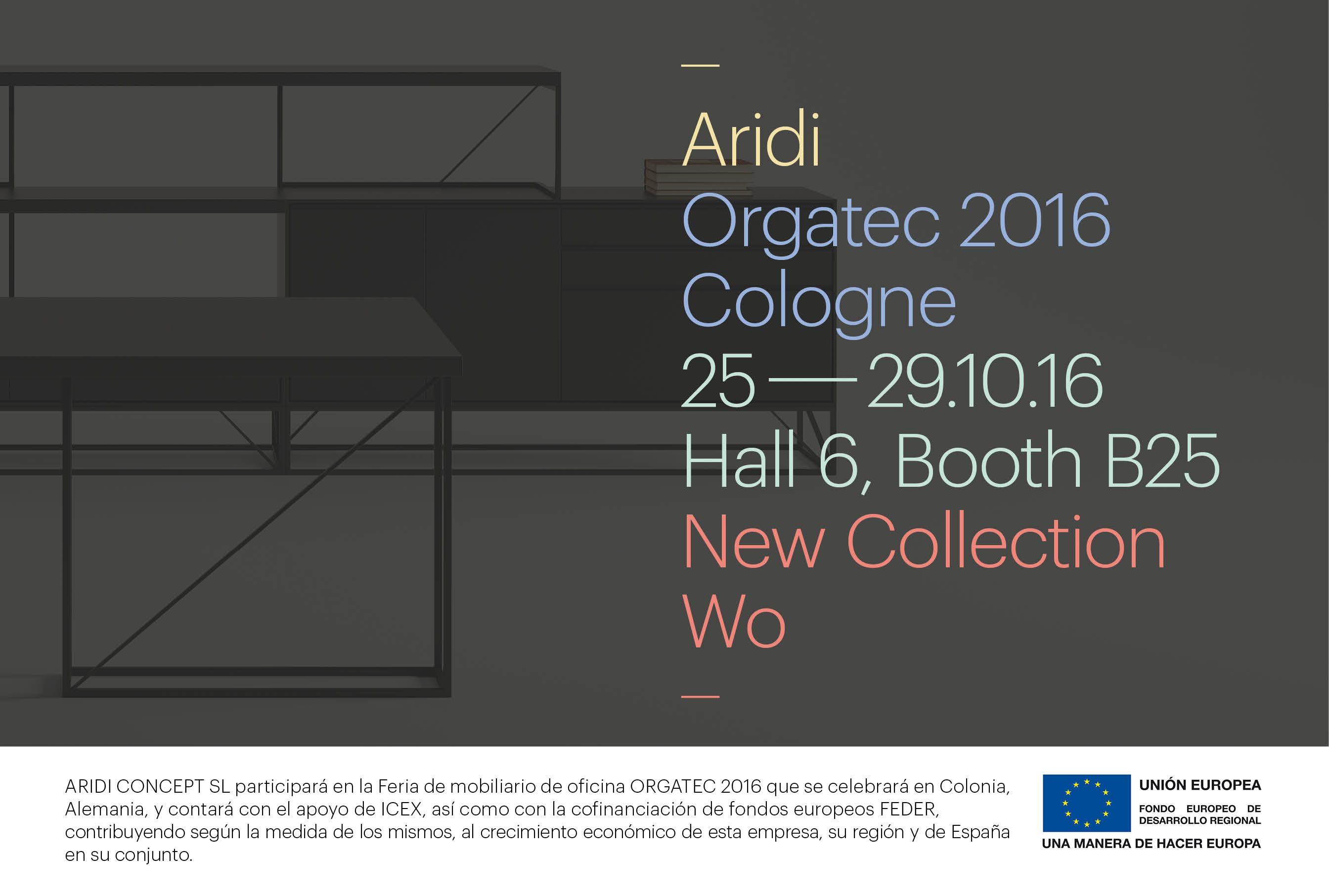 Aridi presenta su nueva colección WO en Orgatec 2016