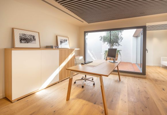 An office that look like a home