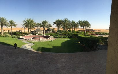 The backyard of my accommodations in Madinat Zayed