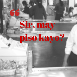 Sir, may piso kayo?