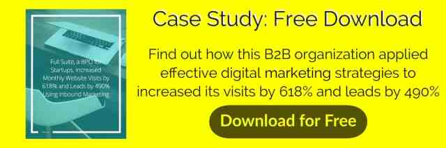 Download this free case study on how a B2B organization increased their visits by 619% and leads by 490%