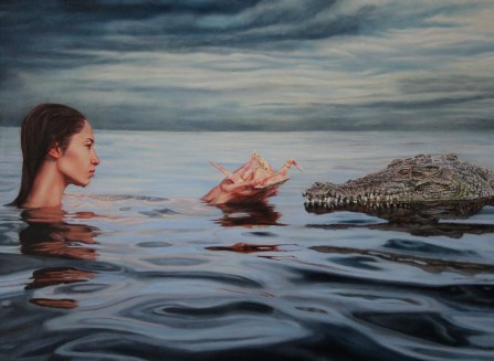 """) """"Concessions"""", 30""""x22"""", Oil on Linen, contact Thinkspace Gallery"""