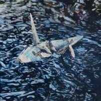 """Crane #13"", 10""x10"", Oil on Linen, Thinkspace Gallery, Dreams of Flight, SOLD"