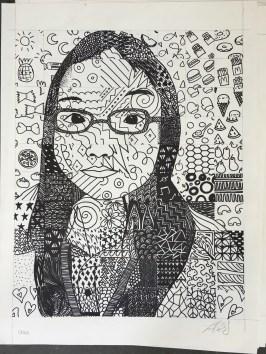 Chloe's Patterned Grid Self-Portrait