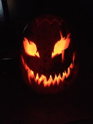 I carved a pumpkin for the first time in about a decade, and loved every moment of it.