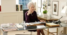 "Miranda Priestly, of ""The Devil Wears Prada,"" has worked hard to get her position of authority, and fights to keep that control. As a result, she comes off as cold and calculating; nearly like the devil."