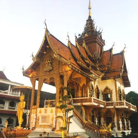 One of many stunning temples in Chiang Mai