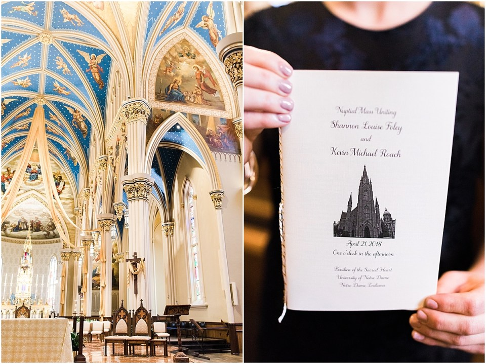 Arielle Peters Photography | Wedding day inside the Basilica of the Sacred Heart in Notre Dame, Indiana.