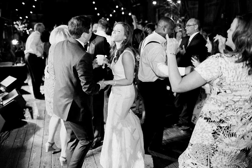 Arielle Peters Photography | Bride and groom dancing at wedding reception on wedding day at St. Joseph's Farm in Granger, Indiana.