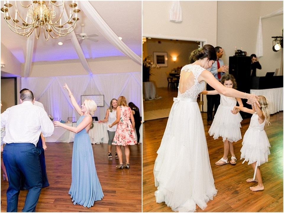 Arielle Peters Photography | Wedding guests dancing at wedding reception at The Blue Heron at Blackthorn in South Bend, Indiana on wedding day.