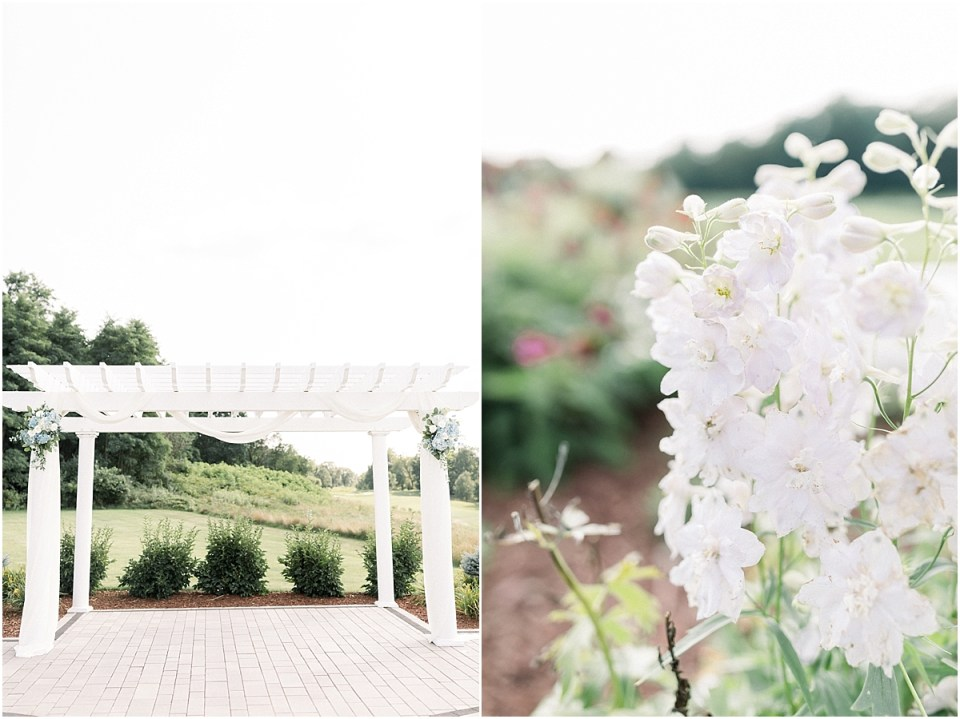 Arielle Peters Photography | Wedding trellis at The Blue Heron at Blackthorn in South Bend, Indiana on wedding day.