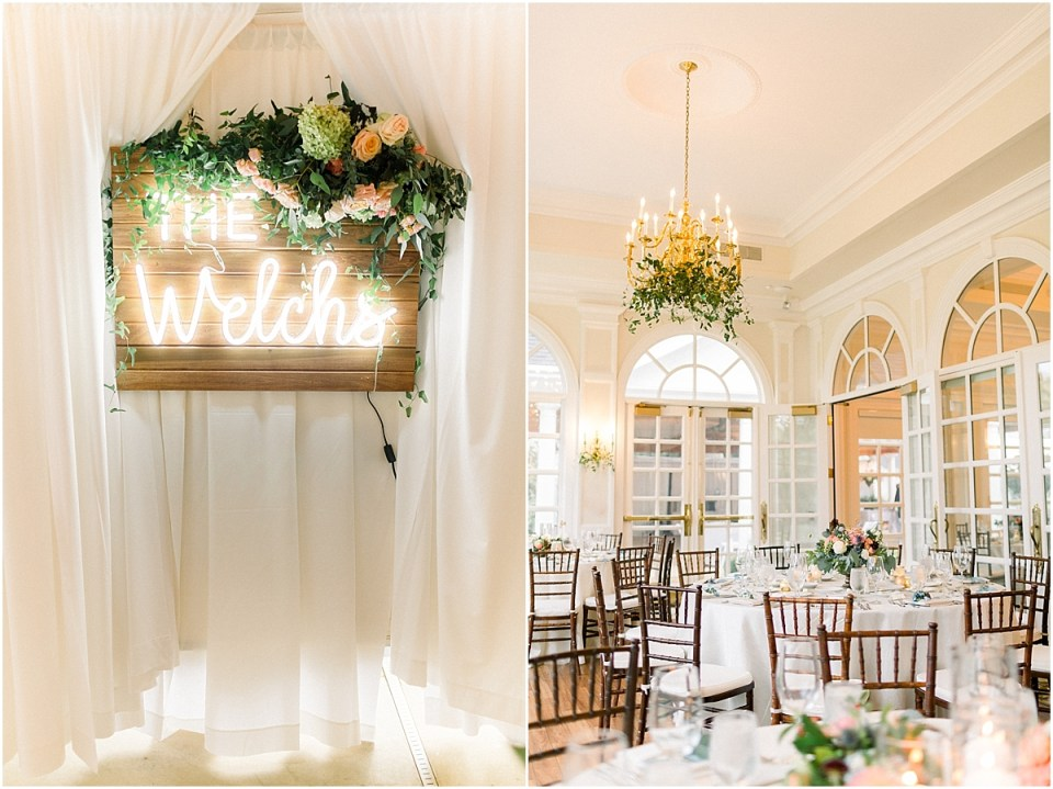 Arielle Peters Photography | Wedding reception table settings and floral arrangements at Sycamore Hills Golf Club in Fort Wayne, Indiana on wedding day.