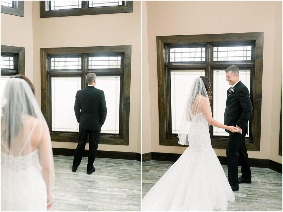 Arielle Peters Photography | Father of the Bride getting first look on wedding day.