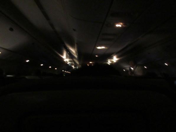 Nighttime on the plane