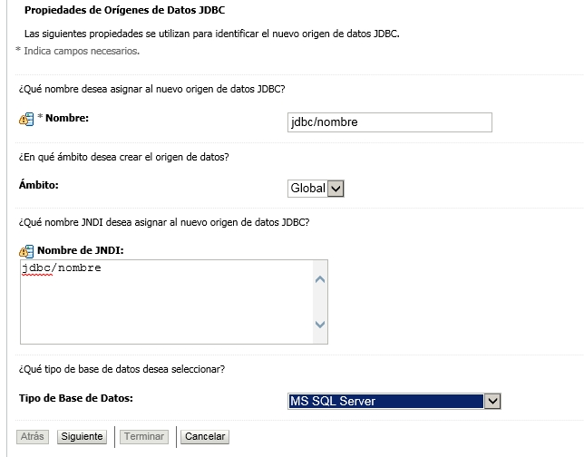 Orígenes de Datos SQL Server en WebLogic : ArielOliva