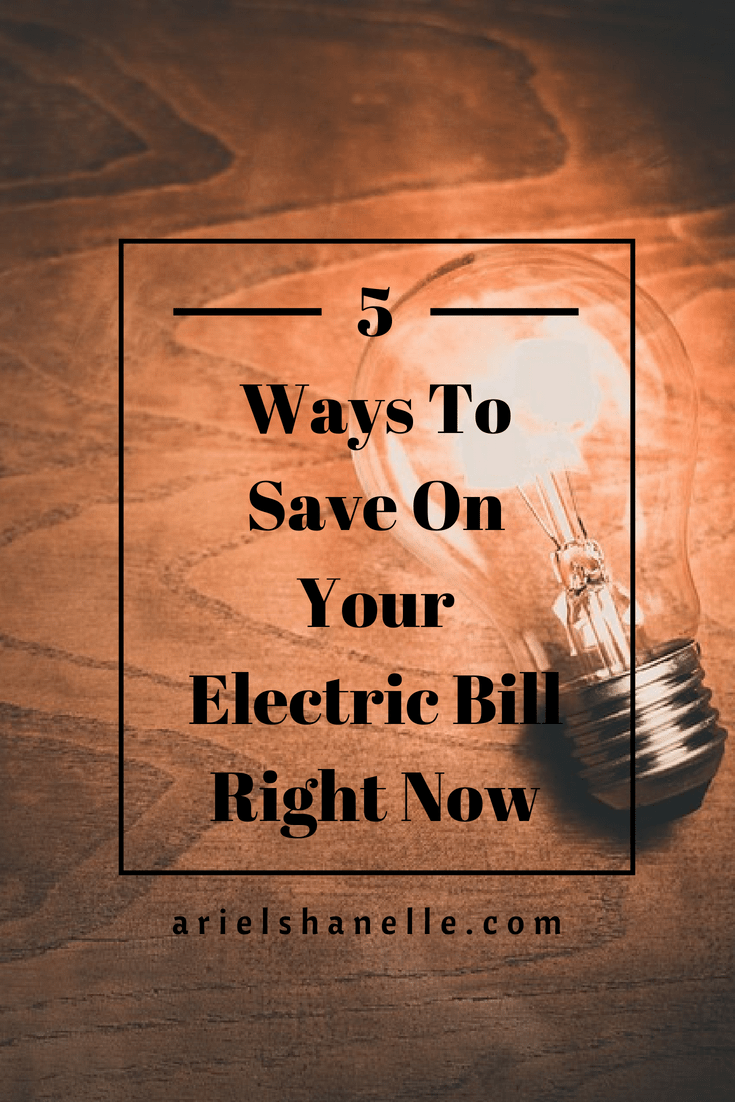 pinterest pin for saving money on electric bill