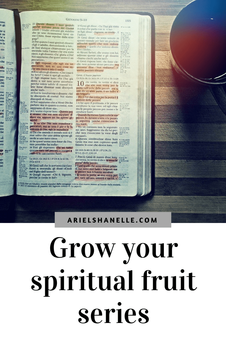 pinterest pin for growing your spiritual fruit series