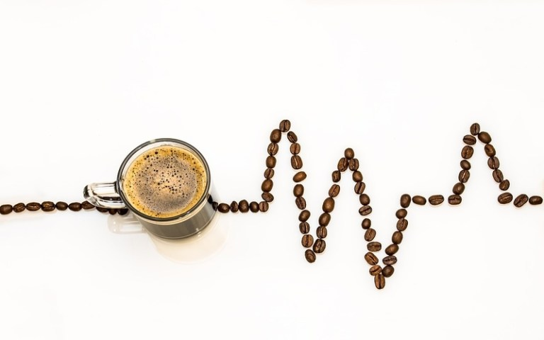 picture of coffee grounds in a heartbeat